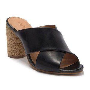 Crevo Presley Leather Cross Band Sandals Heels 9.5